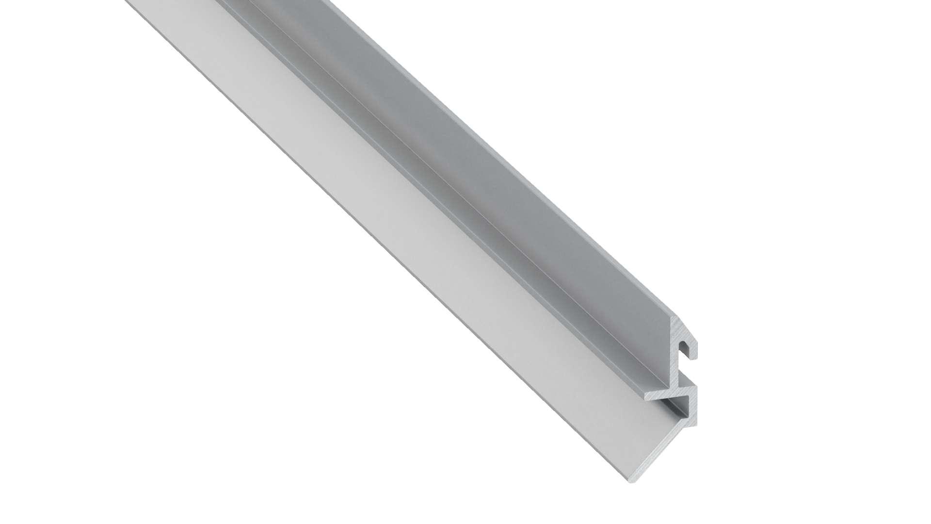Lumines profile type Fari anodized silver, 3 m