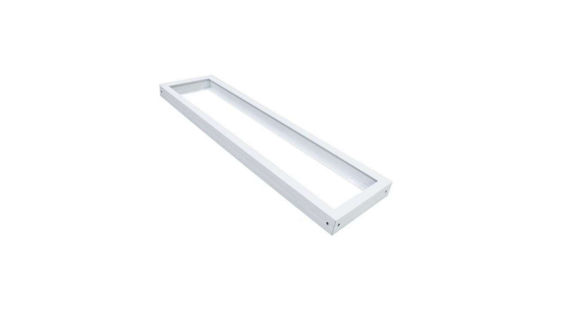 Surface-mounted housing - ceiling plate 120x30cm- white