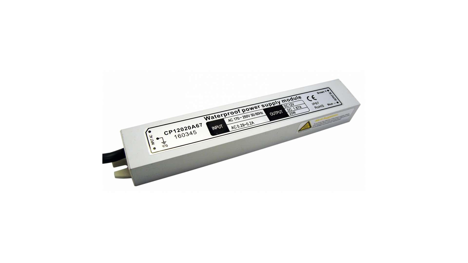 12V 20W IP67 metal case power supply