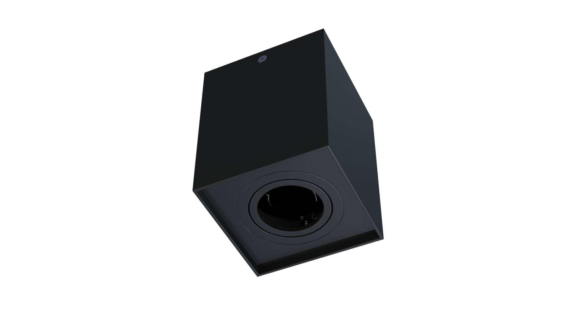 Ceiling spotlight fixture SPOT BERGEN square black