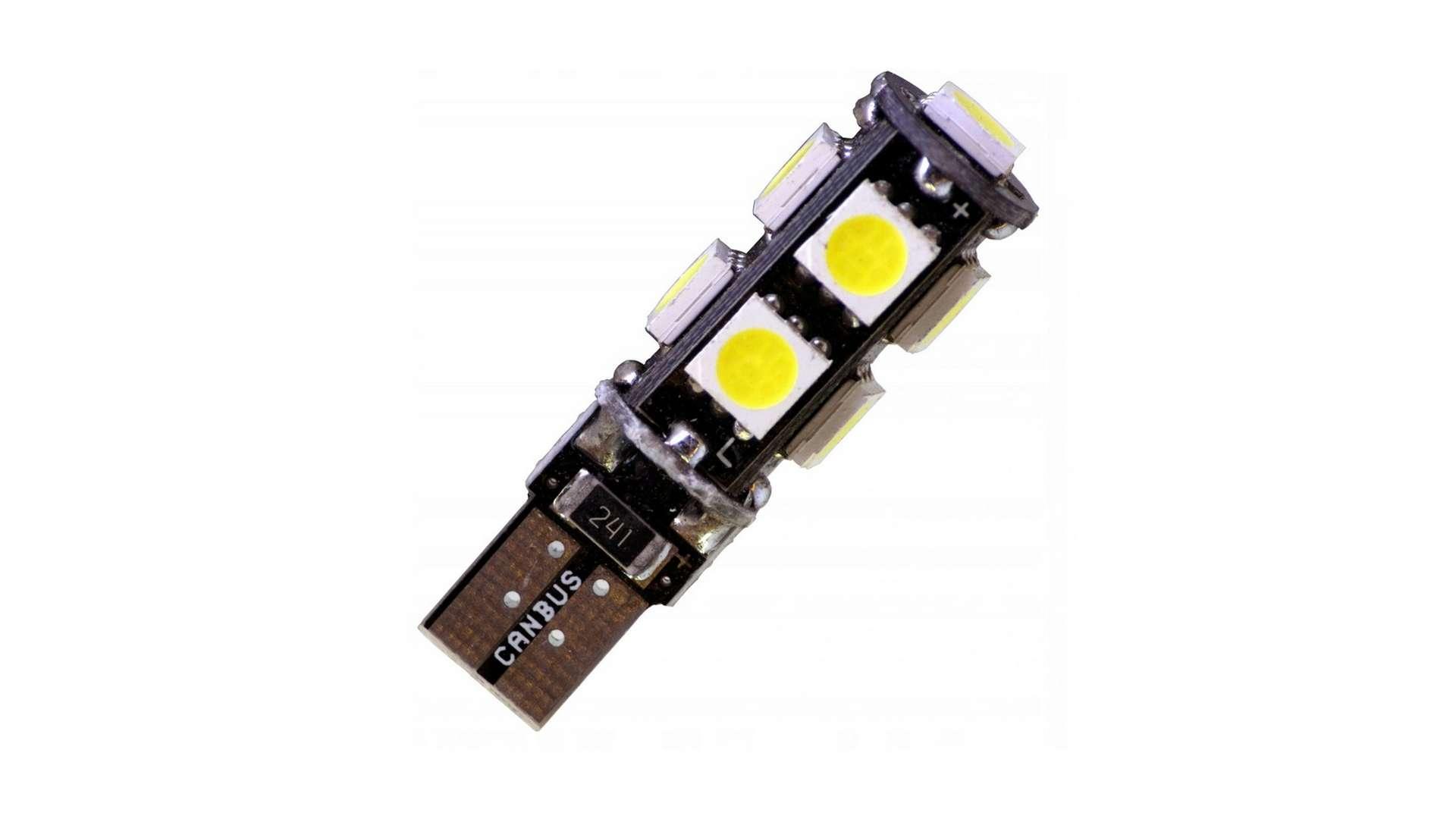 LED LED W5W 9x5050 SMD 12V DC Cold white CANBUS