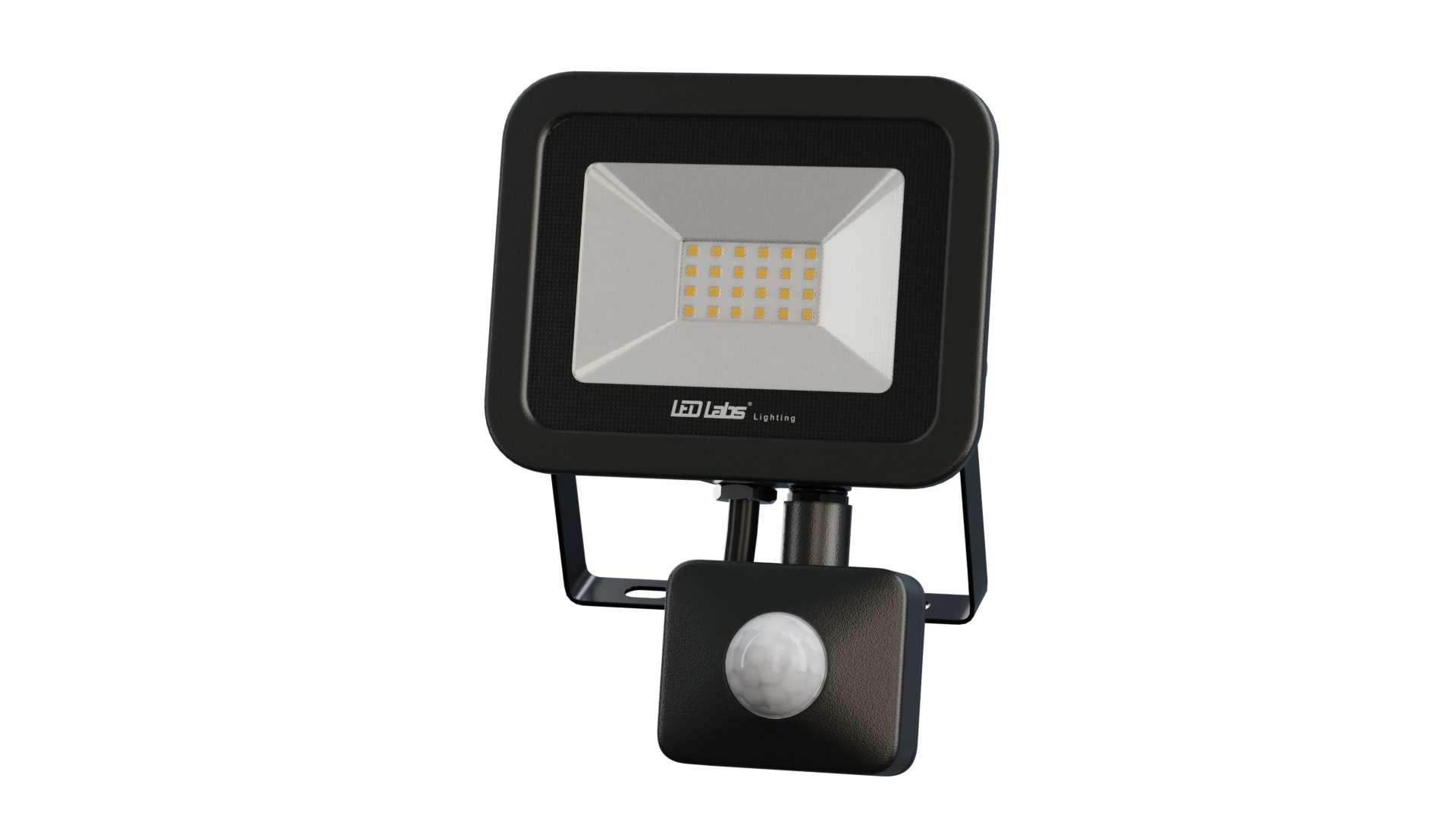 LED Floodligh 3Y 20W Neutral white SMD IP44 SLIM PIR
