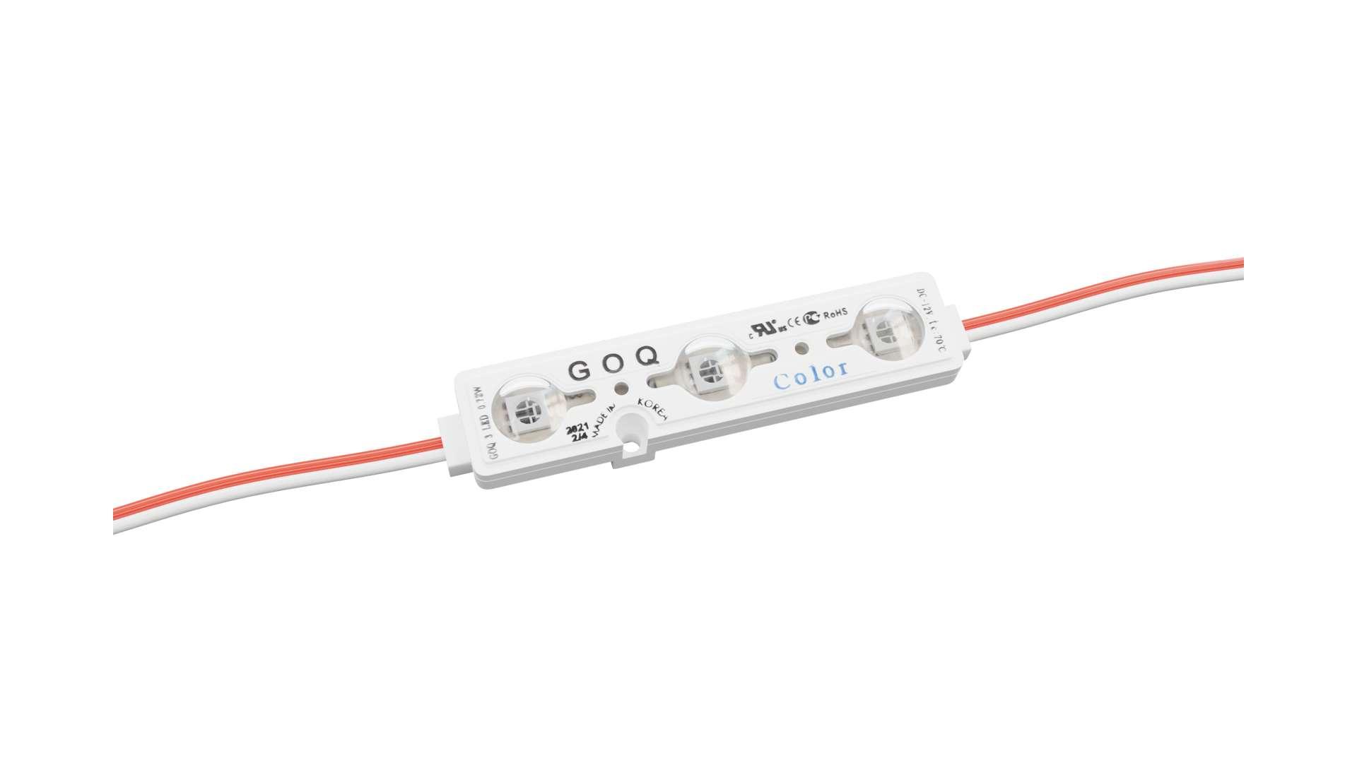 LED Module GOQ SAMSUNG 3xLED 150 degrees Blue