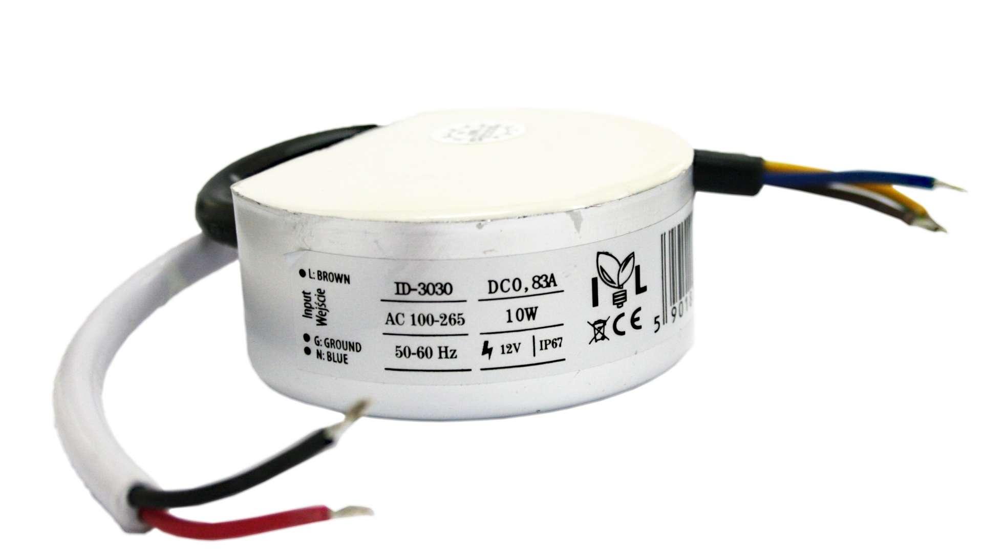 Junction box 12V 10W metal case power supply IP67