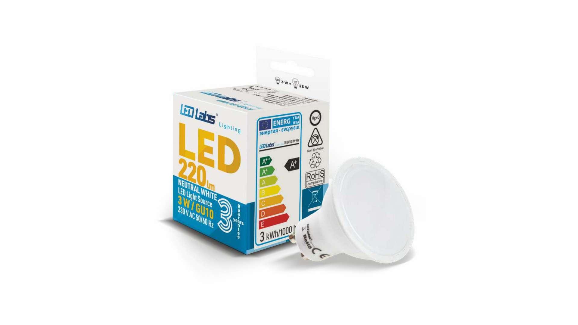 LED source GU10 3W Warm white