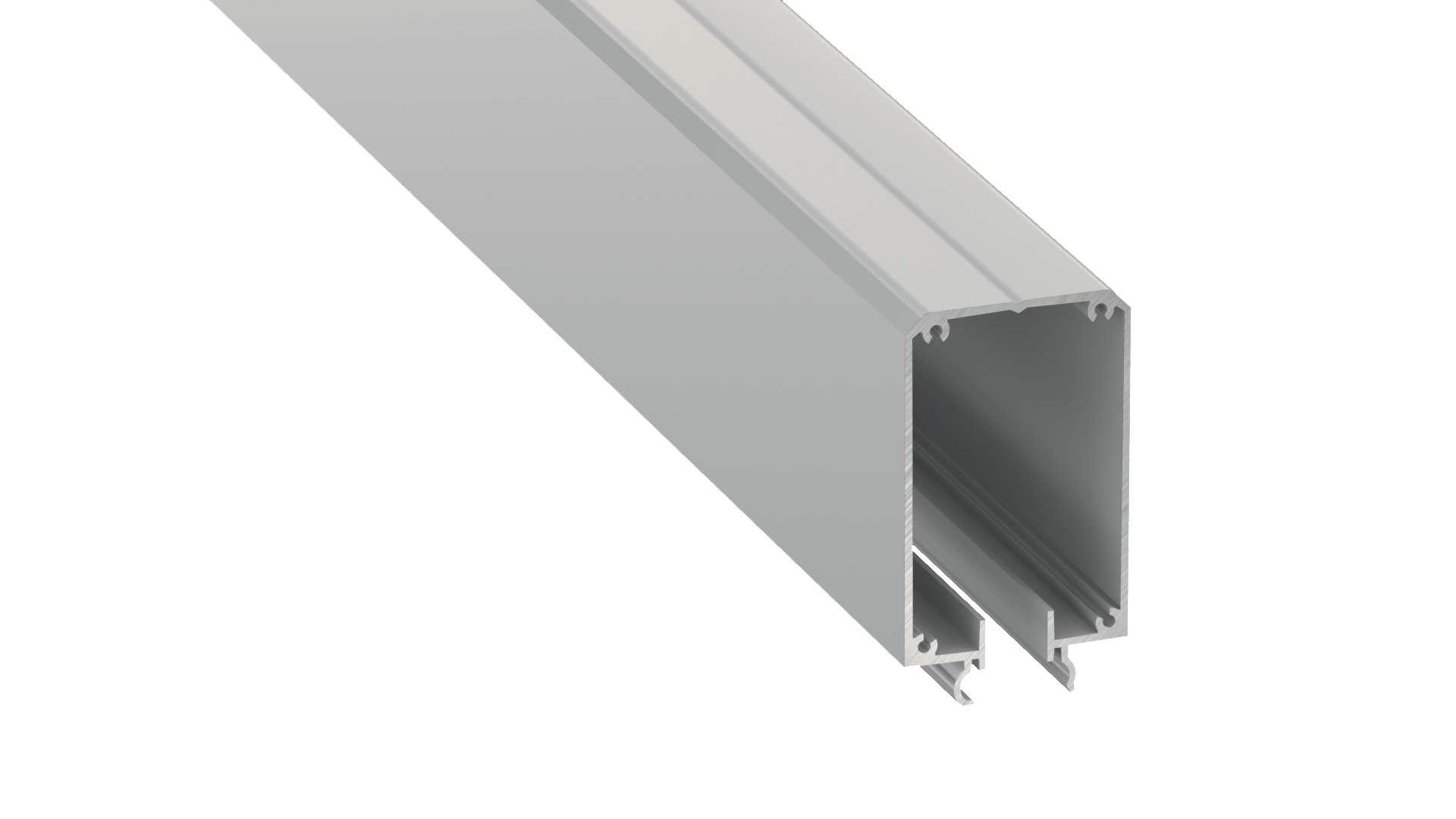 Lumines profile type Talia M2 anodized silver, 3 m