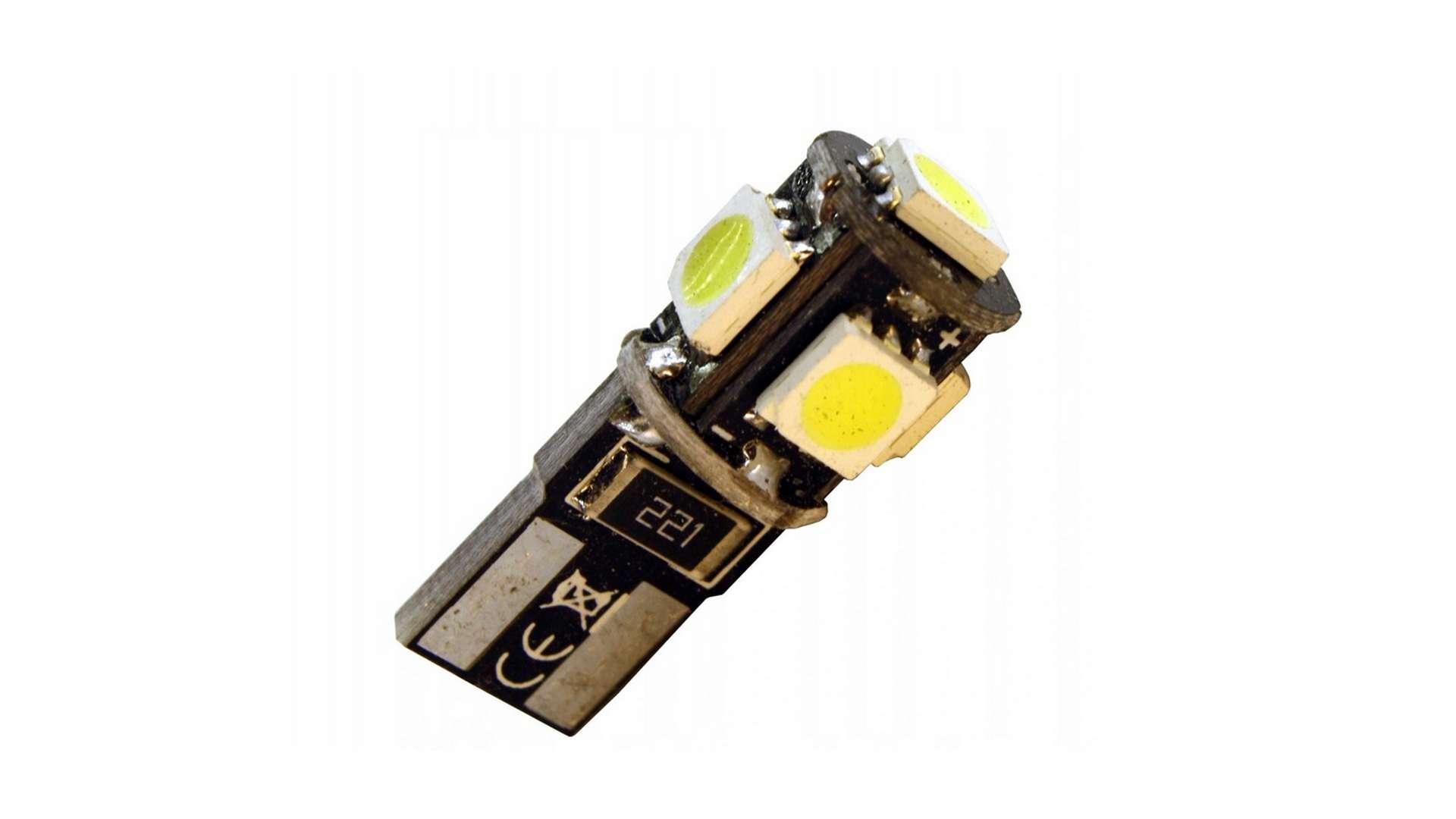 LED LED W5W 5x5050 SMD Cold white CANBUS