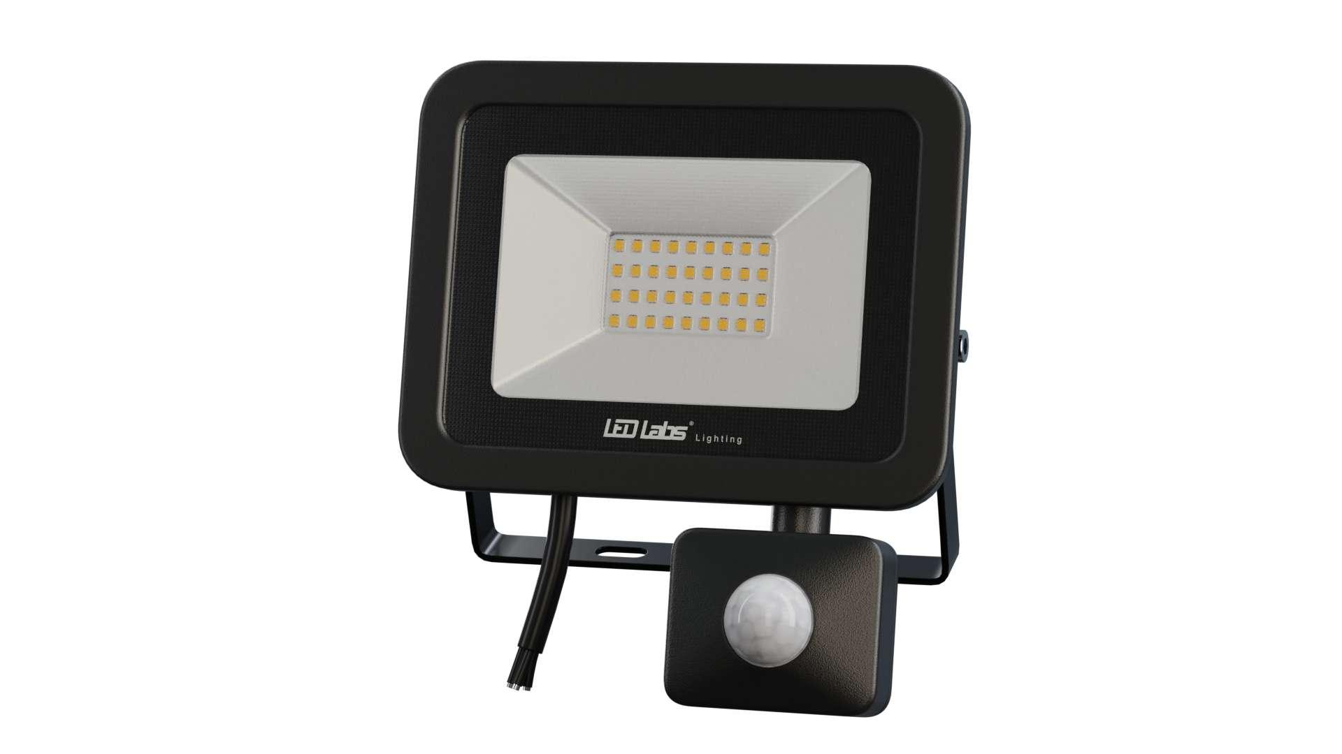 LED Floodligh 3Y 30W Neutral white SMD IP44 SLIM PIR