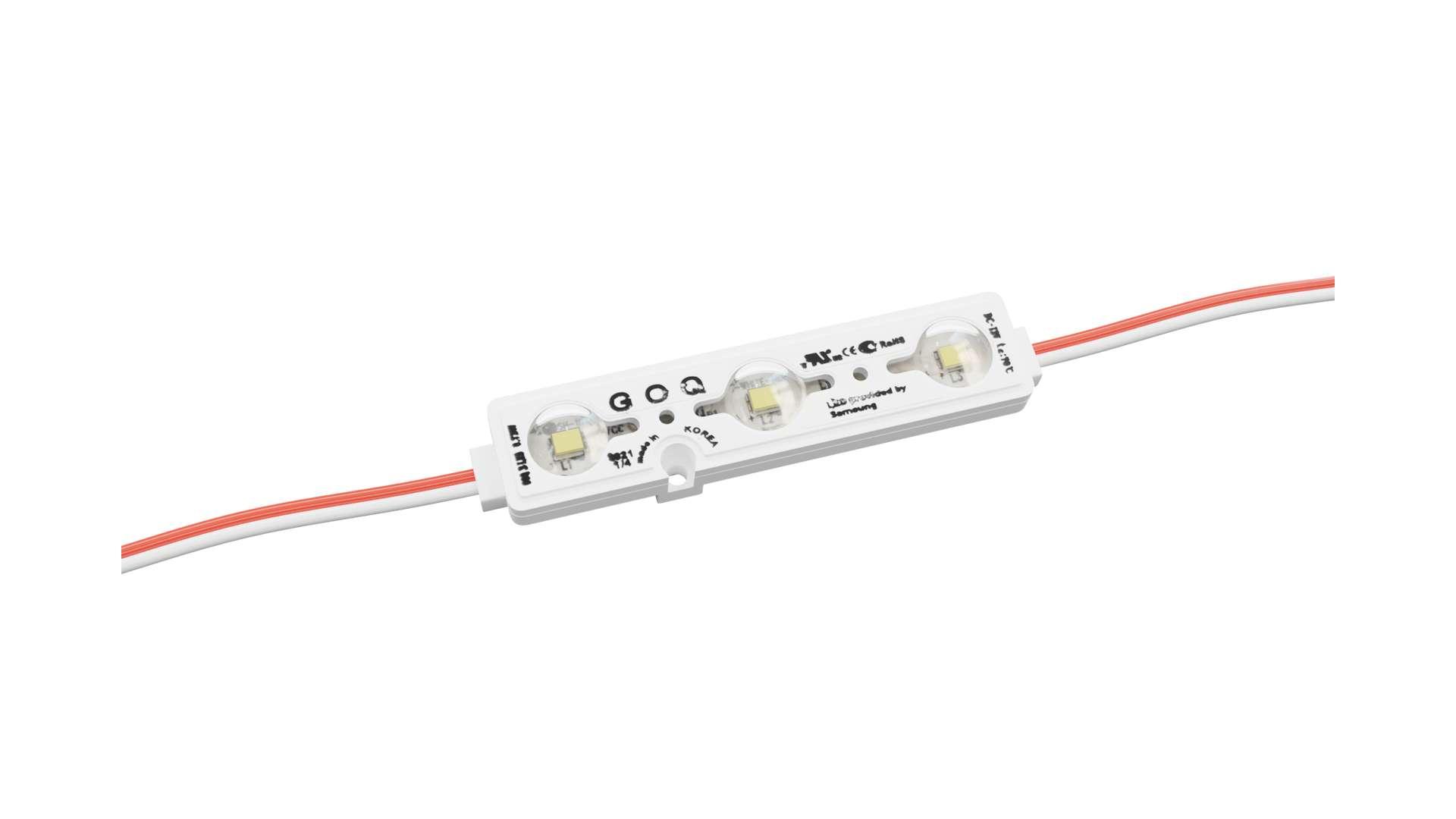 LED Module GOQ SAMSUNG 3x2835SMD 0.72W 150 degrees 3000K