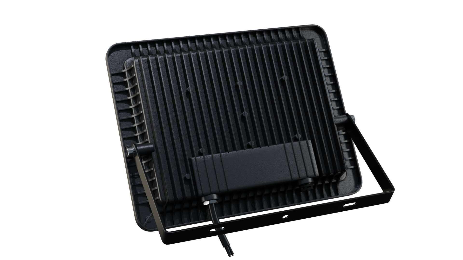 LED Floodligh 3Y 100W Neutral white SMD IP65 SLIM, black