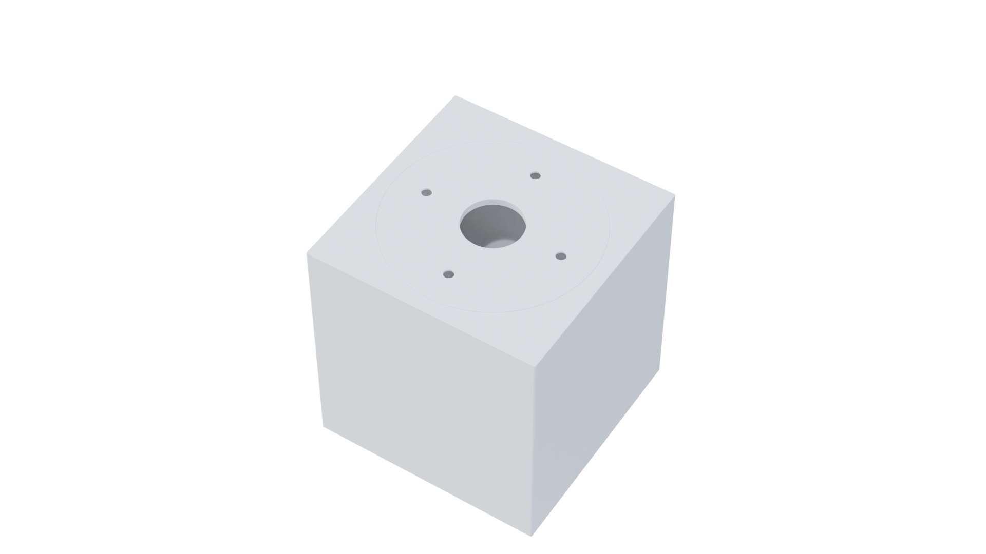 Ceiling spotlight fixture SPOT NORD square white