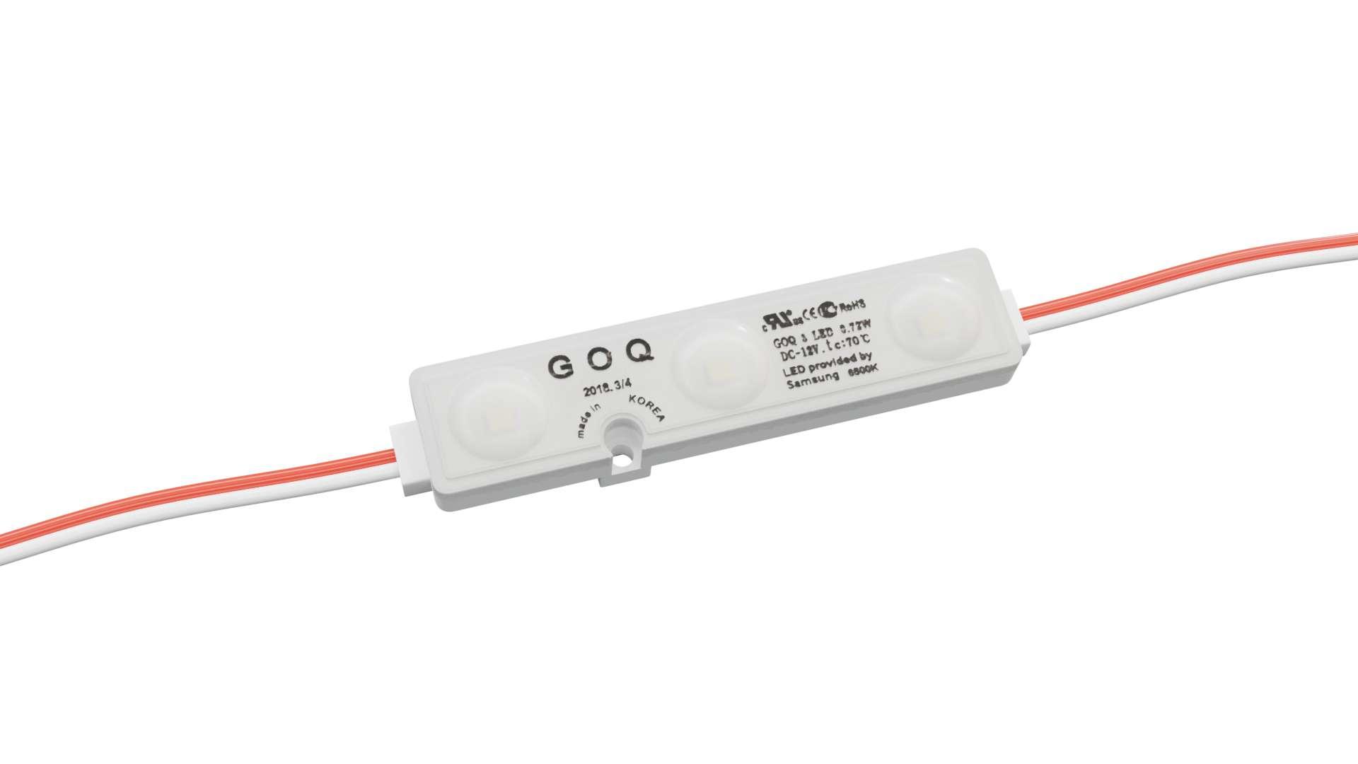 LED Module GOQ SAMSUNG 3x2835SMD 0.72W 160 degrees dyf 6500K