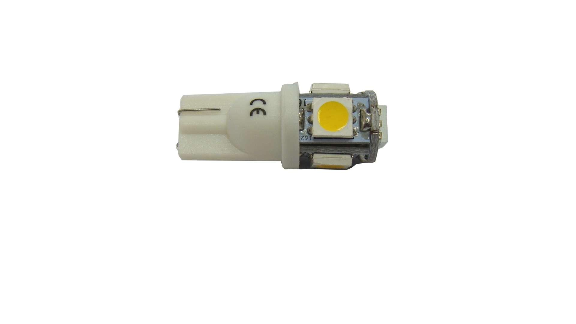LED LED W5W 5x5050 SMD 12V DC Warm white
