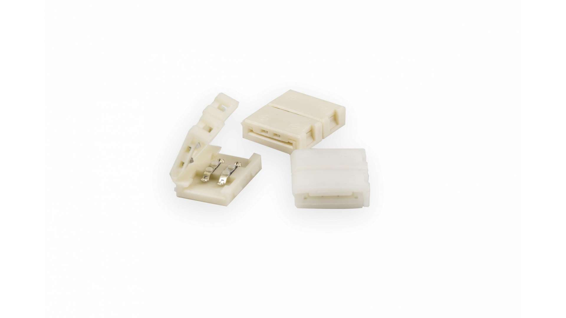 LED tape connector 10mm - 2 sides latch, unwired