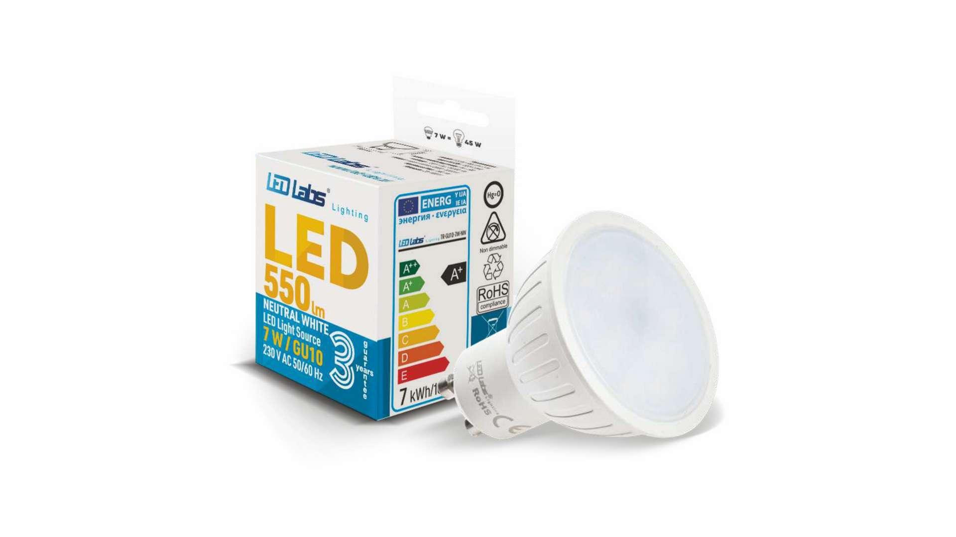 LED source GU10 7W Warm white