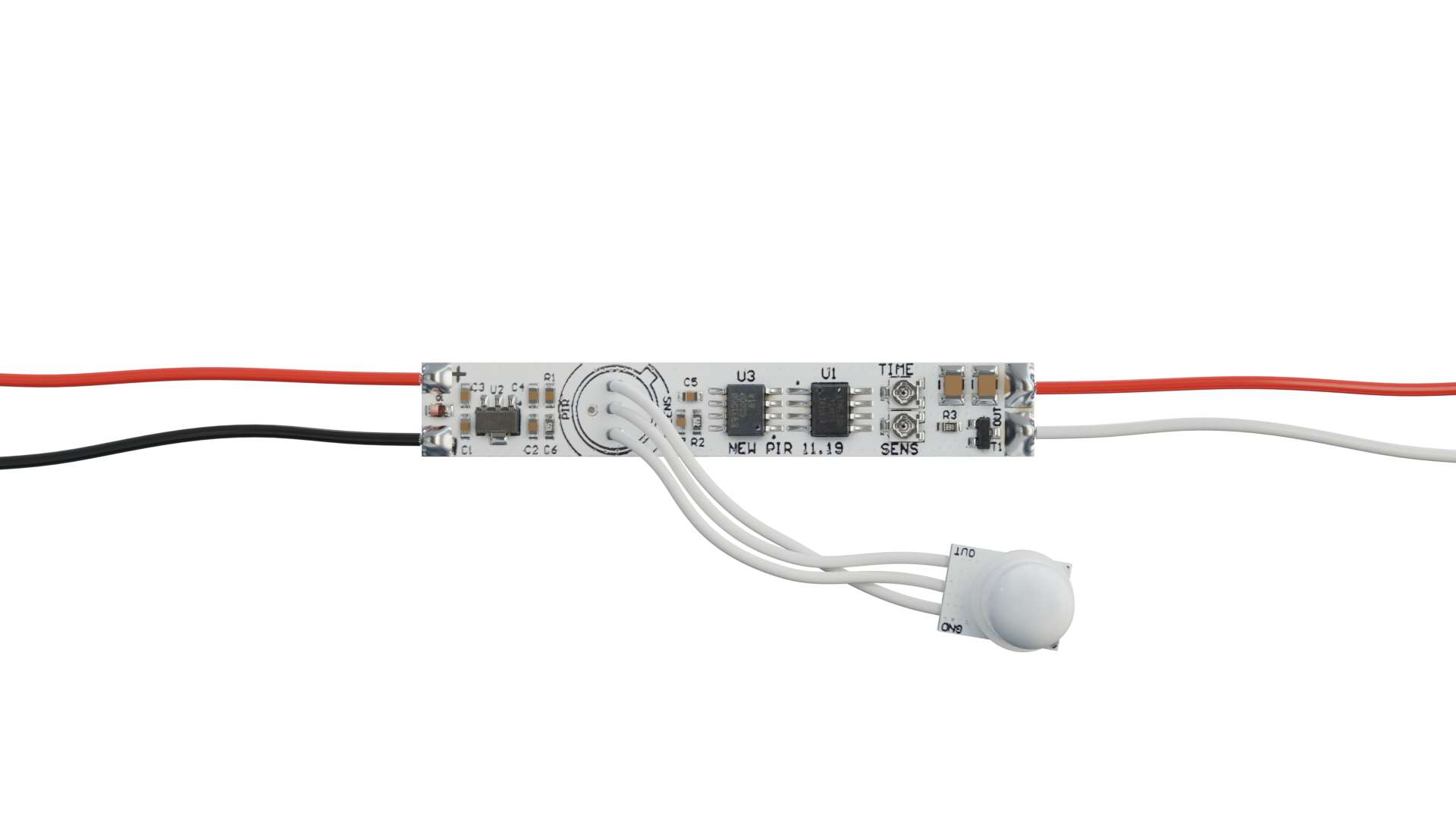Contactless switch with PIR motion detector 12V 30W