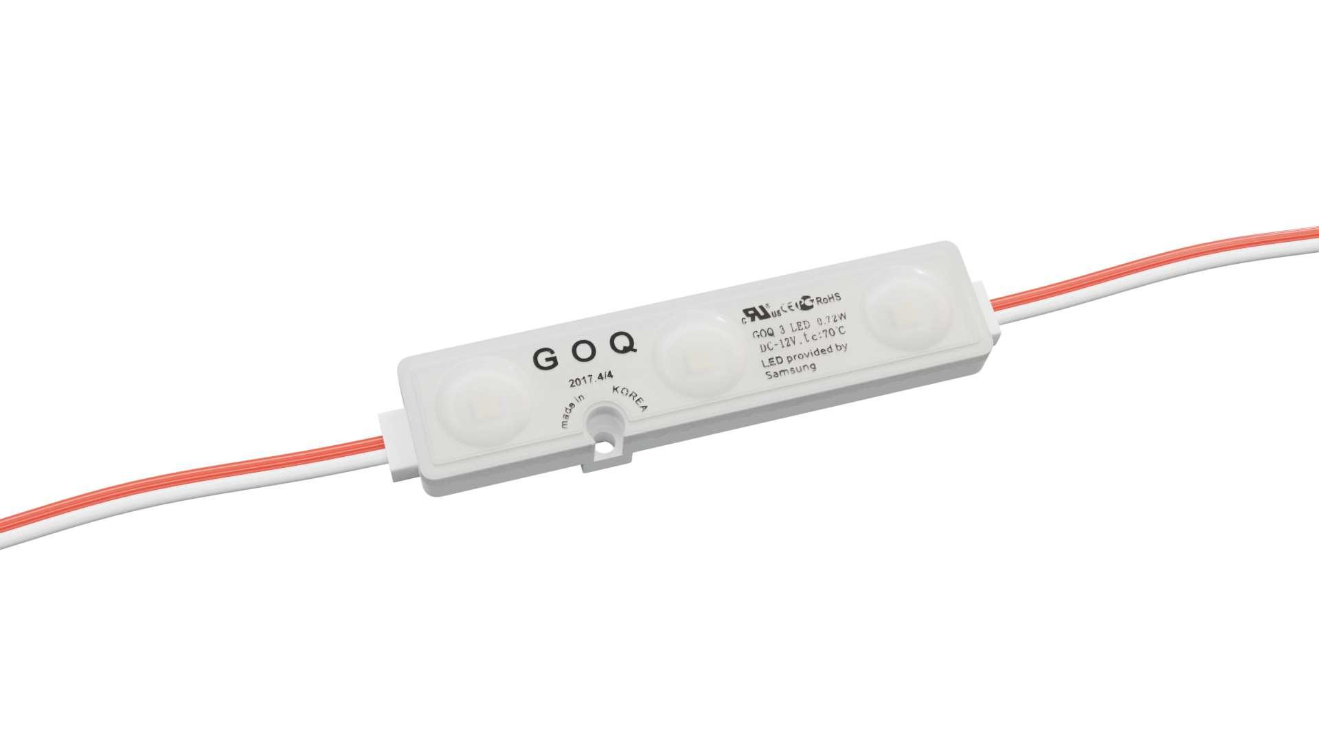 LED Module GOQ SAMSUNG 3x2835SMD 0.72W 160 degrees dyf 3000K