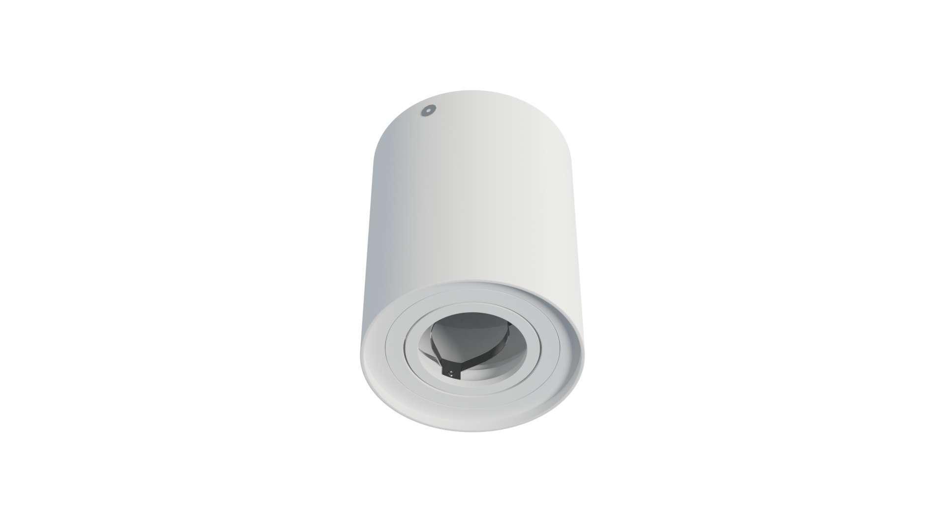 Ceiling spotlight fixture SPOT TUBE round white