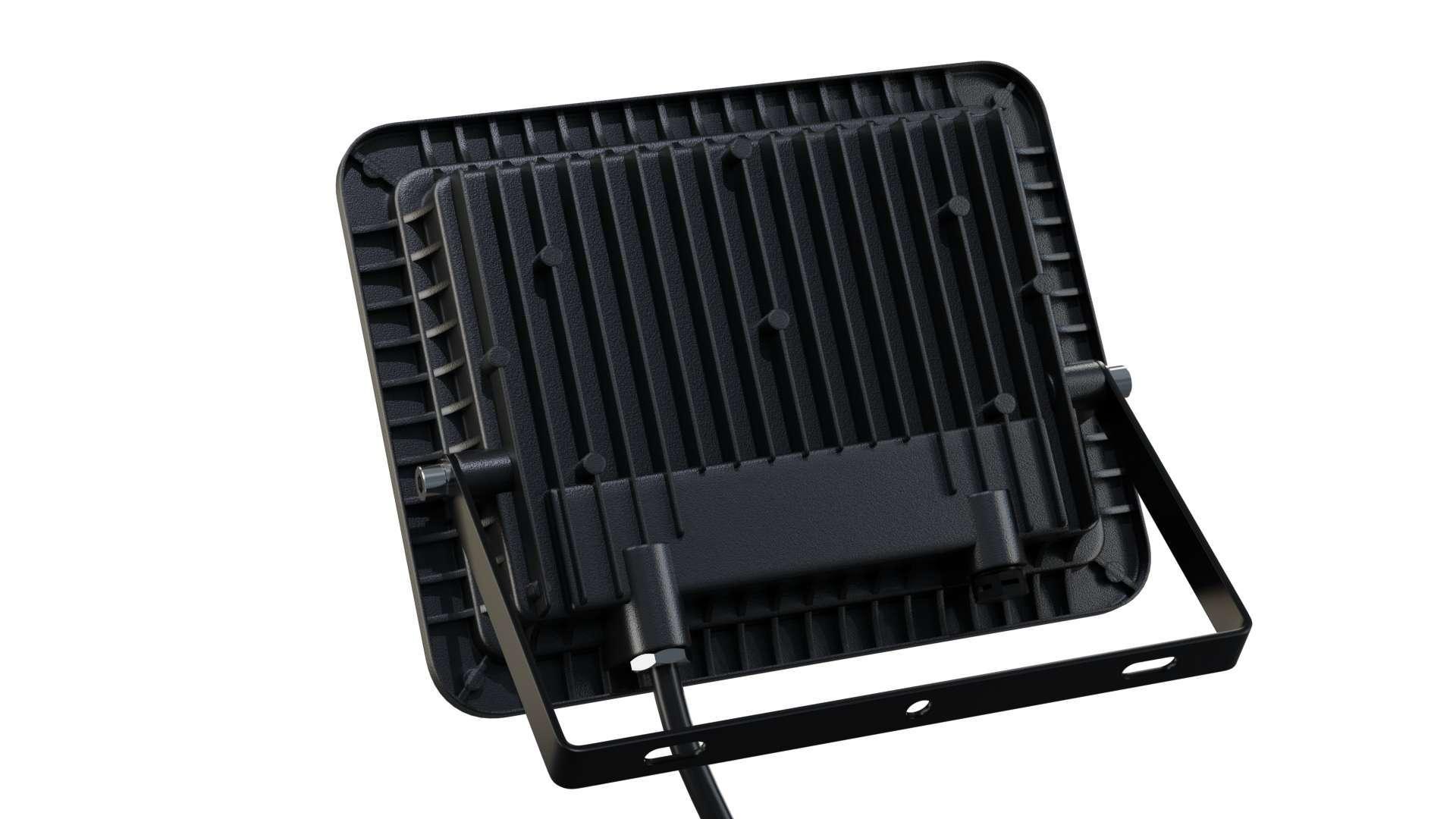 LED Floodligh 3Y 50W Neutral white SMD IP65 SLIM, black