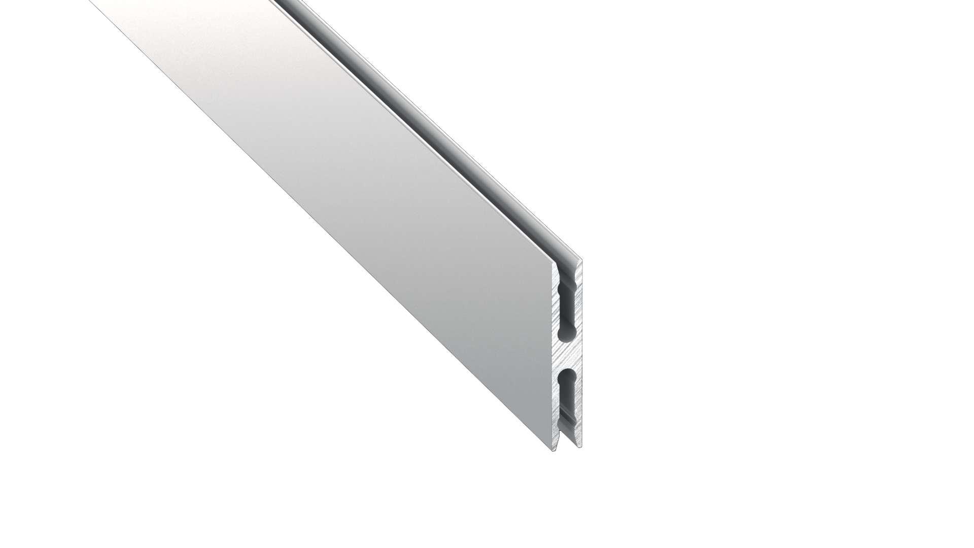 Lumines profile type Metro anodized silver, 3 m