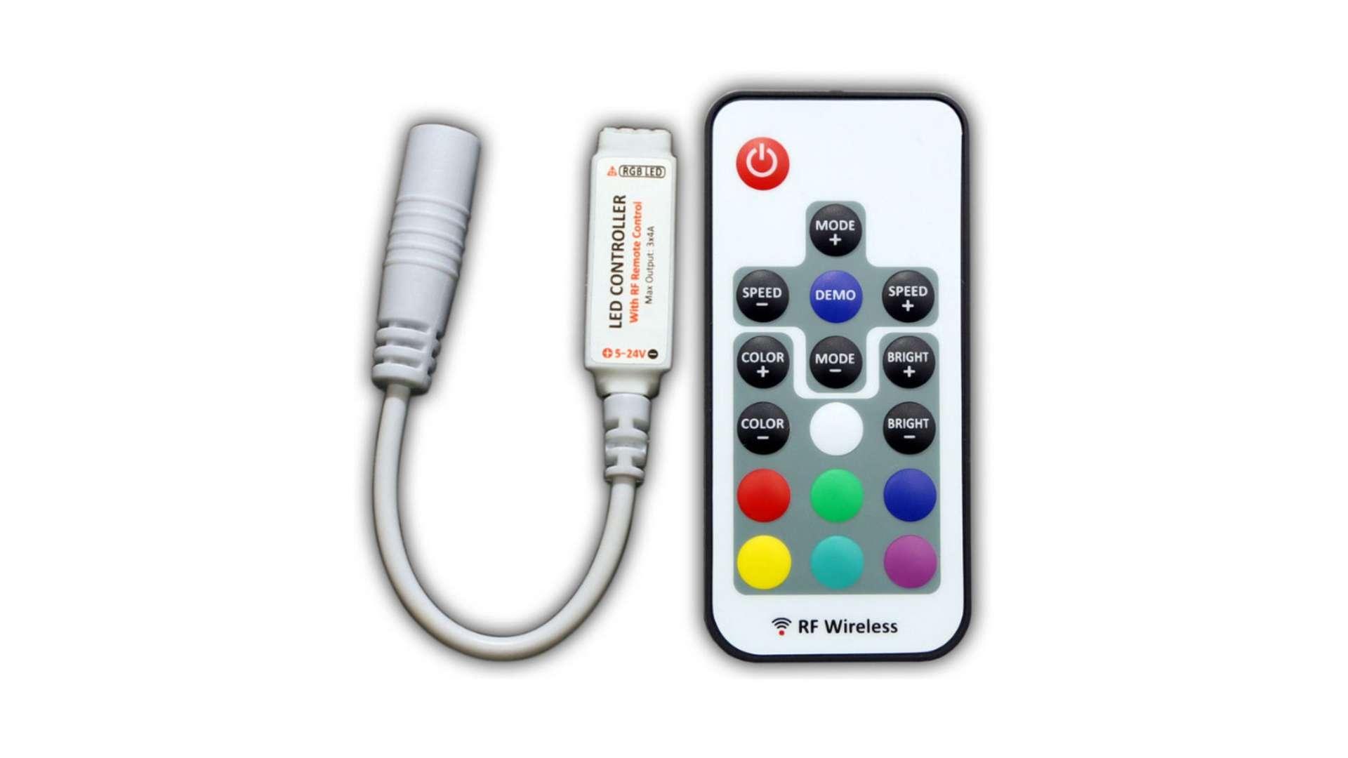 RGB controller 12V 72W 18 buttons mini RF White