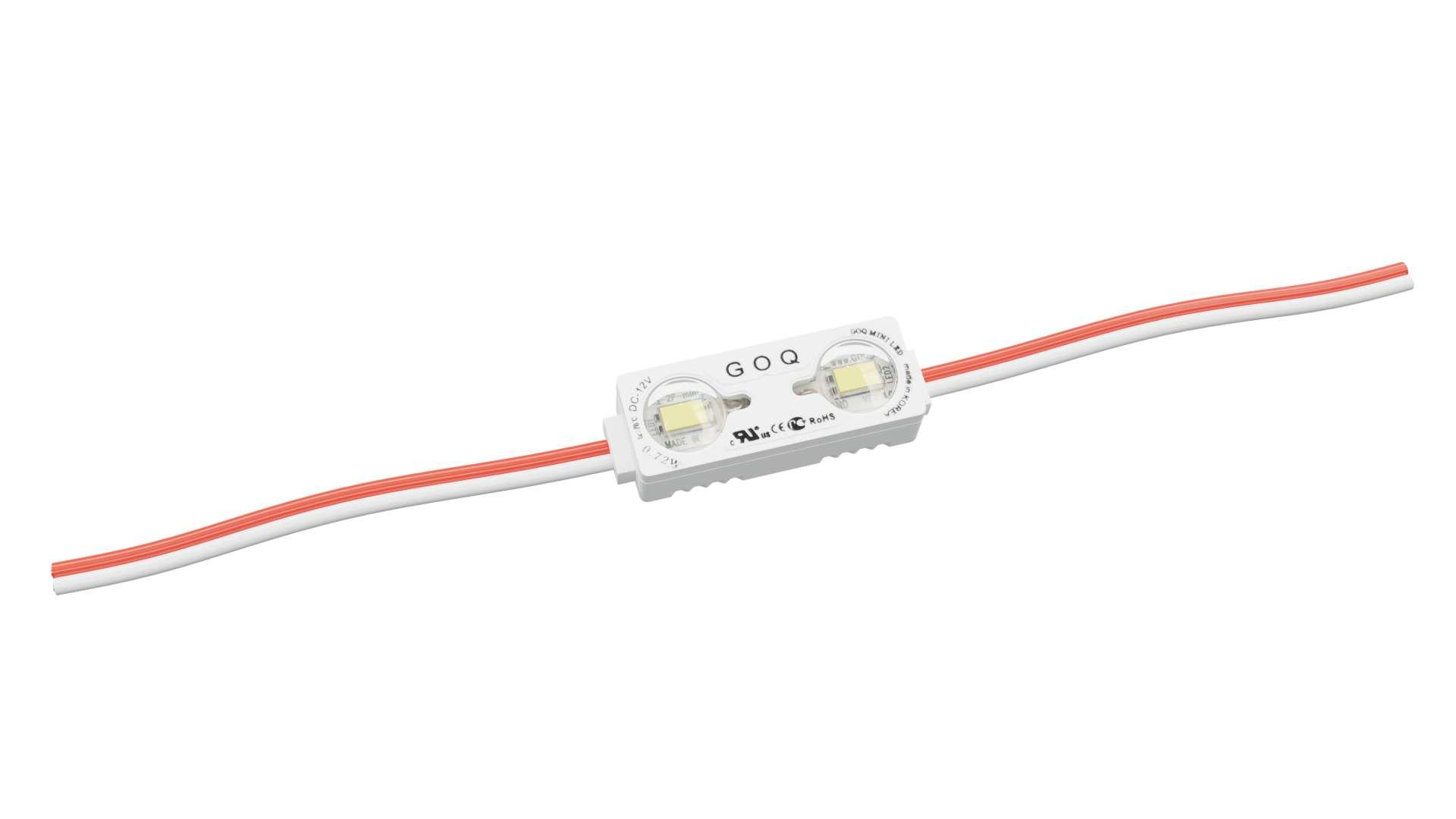 LED Module GOQ SAMSUNG 2xLED 150 degrees White 7500K 10cm