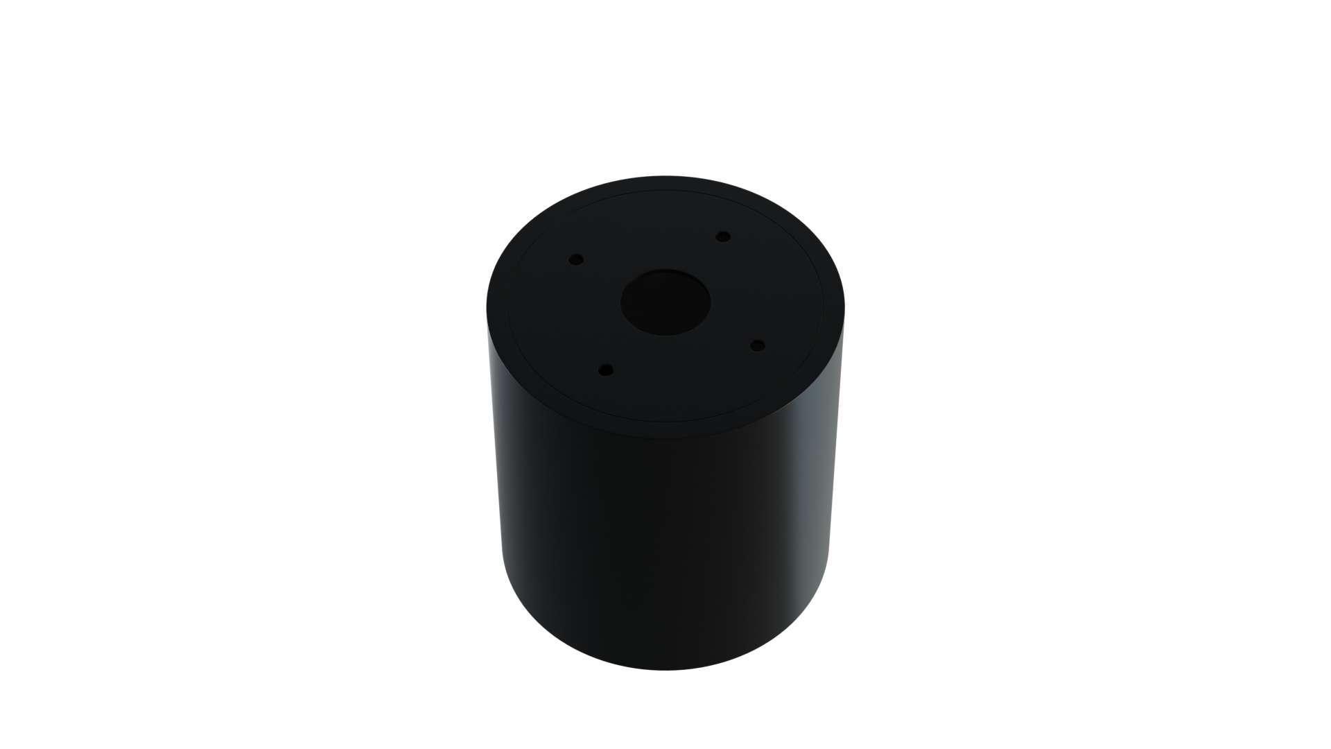 Ceiling spotlight fixture SPOT OREA round black