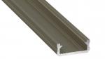 Lumines profile type D anodized inox, 3 m