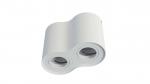 Ceiling spotlight fixture SPOT LENO 2x round white